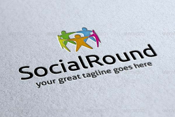 Colorful Social Round Logo