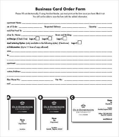 Business form template 9 free pdf documents download free business order form template accmission Gallery