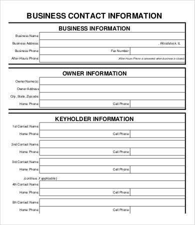 Business Form Template - 9+ Free PDF Documents Download | Free ...