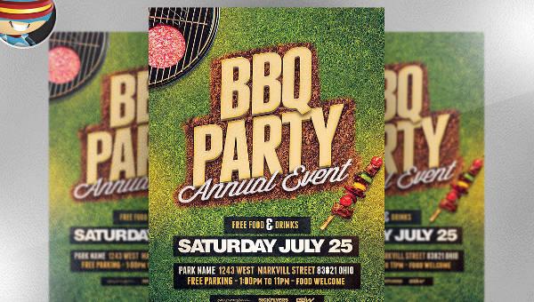 unique bbq party flyer