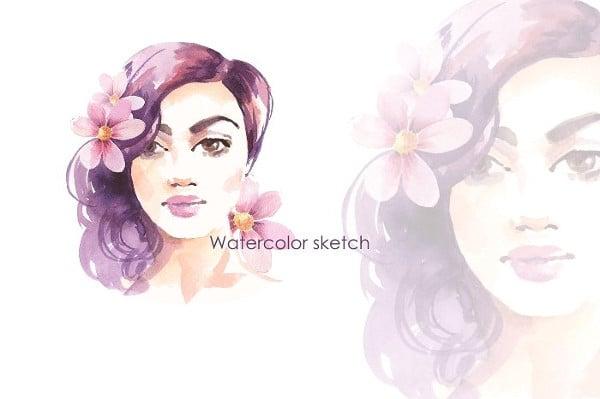 watercolor sketch illustration