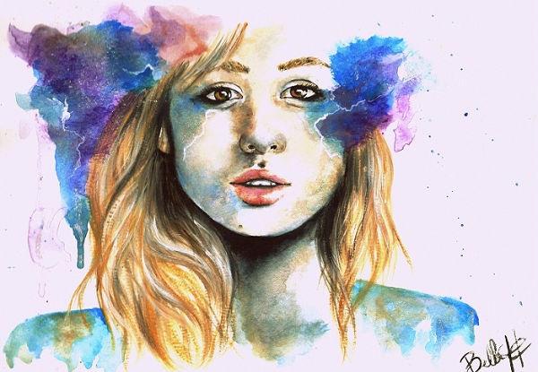 Watercolor Illustration by Bella Harris