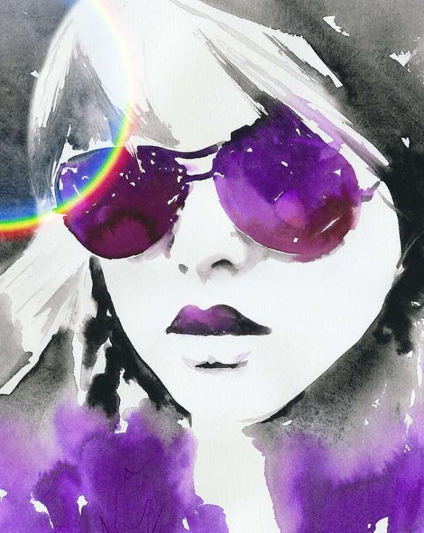 watercolor fashion illustration design