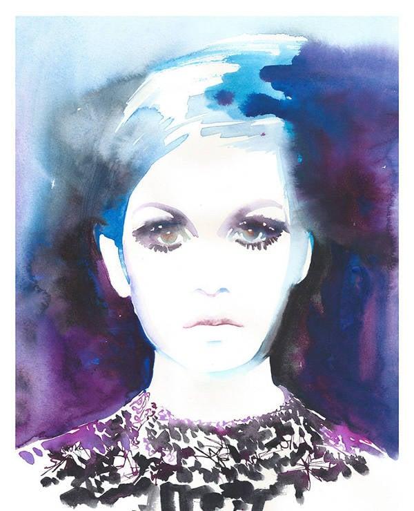 fashion watercolor illustration print