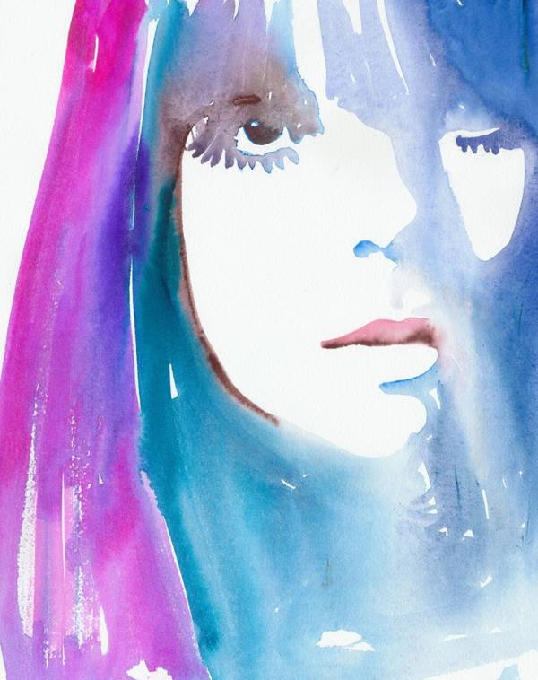 fashion watercolor illustration poster