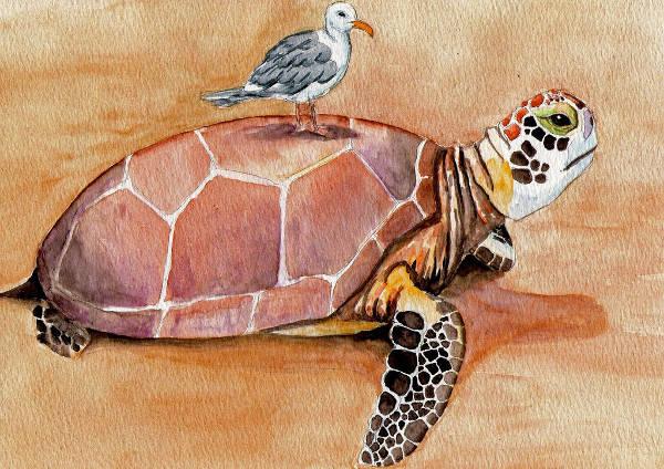 fantasy watercolor illustration