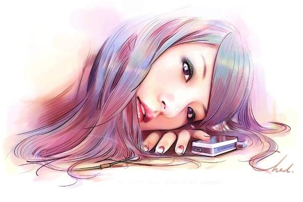 Digital Art Watercolor Illustration