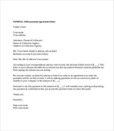 Debt Letter Template 7 Free Word Pdf Format Download Free