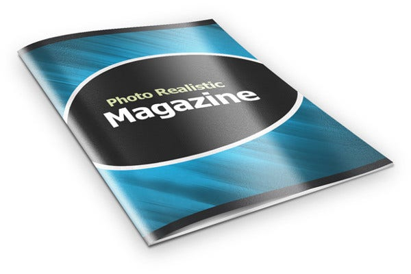 Simple Photo Realistic Magazine Mockup