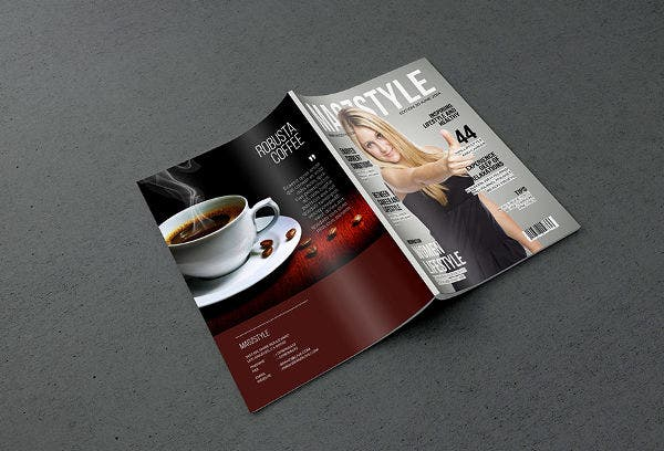 Photorealistic Magazine MockUp Free PSD