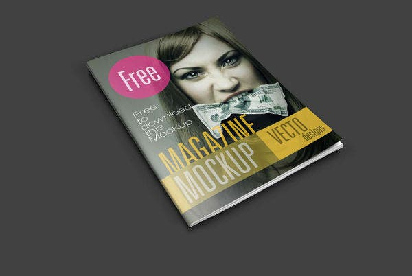 Free Magazine Mockup by Vectogravic