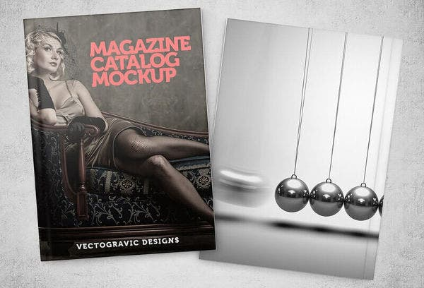 Free Magazine Cover Catalog Mockup