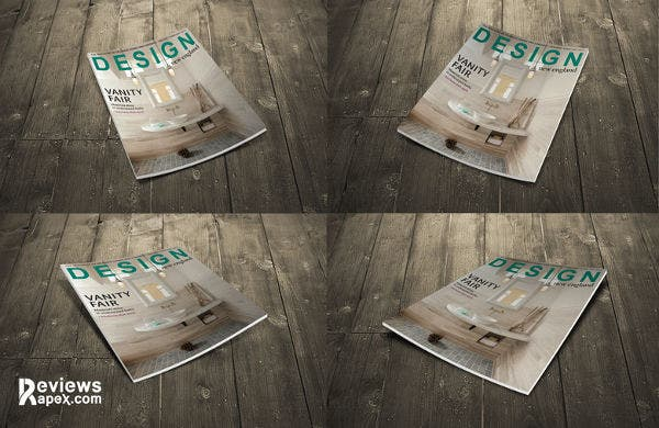 free download magazine cover mockup design