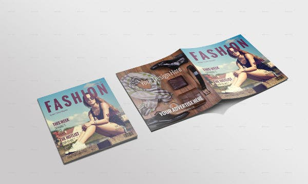 Fashion Magazine Cover Mockup