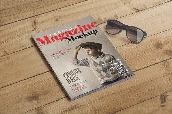 15 Fashion Photorealistic Magazine Cover Mockup