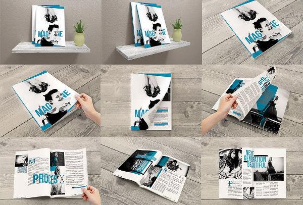 9 PSD Magazine Mock-Ups