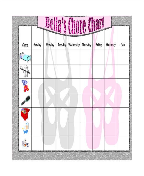 printable toddler chore chart