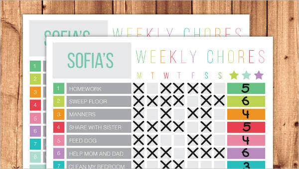 photo relating to Chore Chart Printable Free called Printable Chore Chart - 8+ Free of charge PDF Data files Obtain