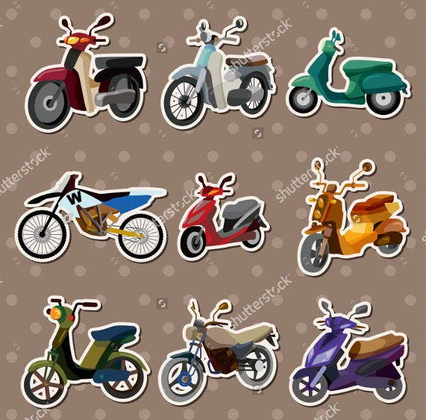 cartoon-motorcycle-stickers