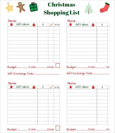 printable shopping list template 9 free word excel pdf documents download free premium. Black Bedroom Furniture Sets. Home Design Ideas
