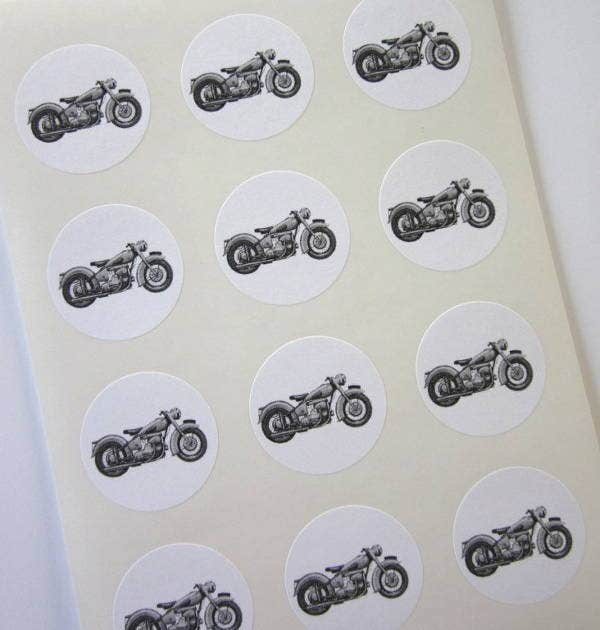 round-motorcycle-stickers