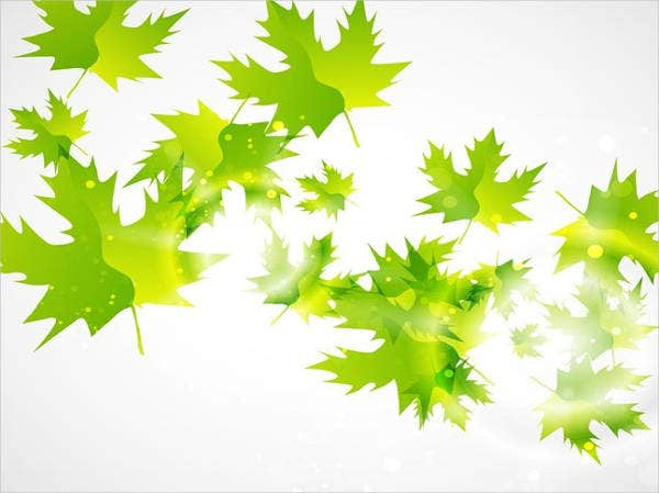 green leaf vector background