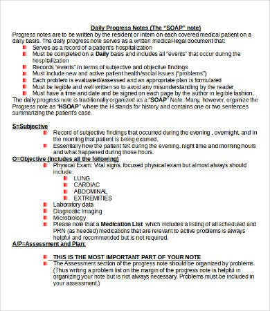 Soap Note Template   Free Word Pdf Documents Download  Free