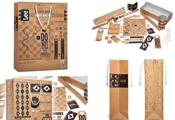 Geometric Paper Bag Design