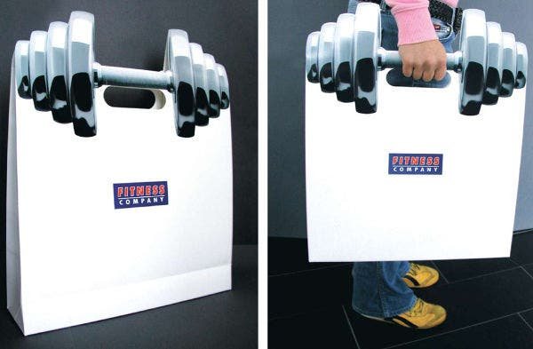 Fitness Concept Paper Bag