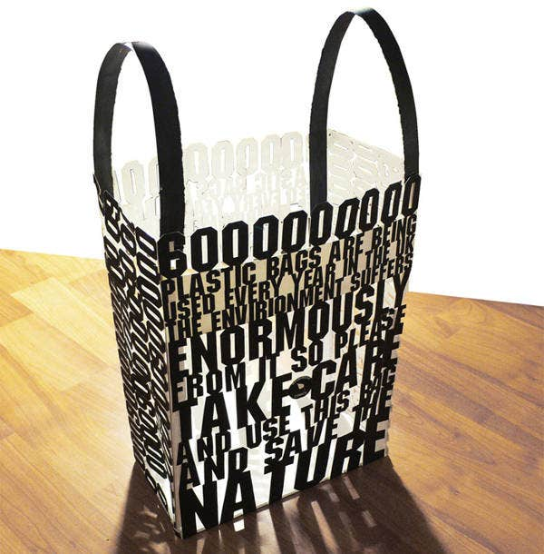 Creative Typography Paper Bag Design