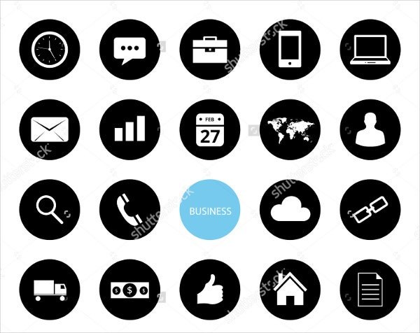 business and e commerce icons