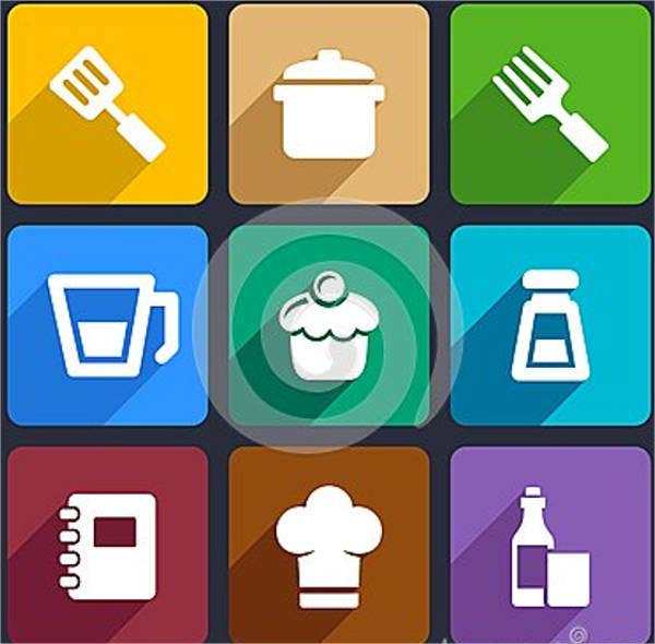 flat-kitchen-icons-set