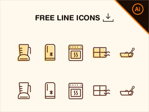 kitchen-line-vector-icons