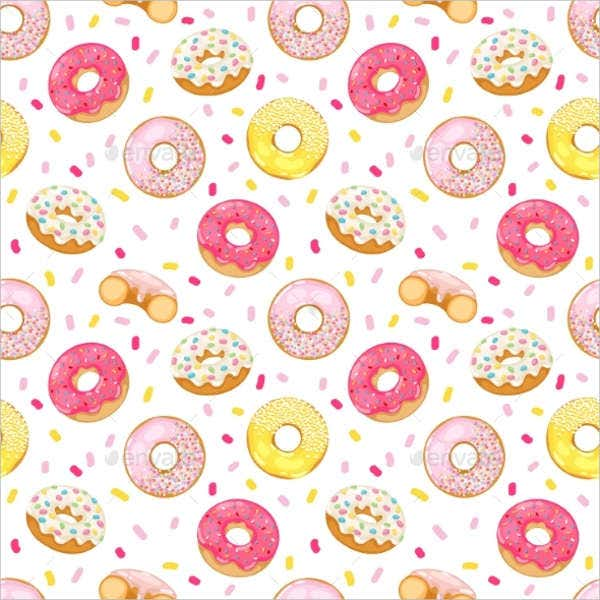 Donuts Vector Seamless Pattern