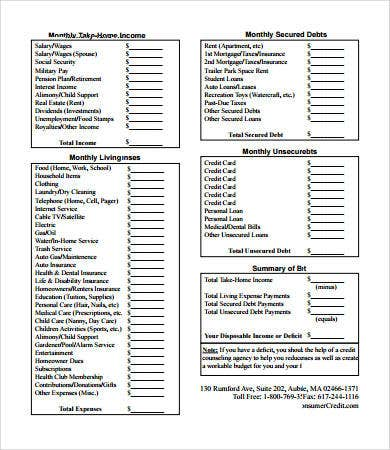 budget forms 9 free pdf documents download free premium templates