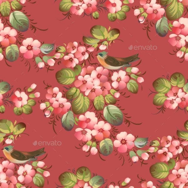 Trendy Seamless Flower Pattern