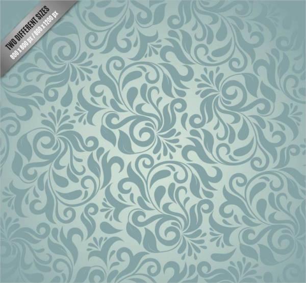 Free Vector Grey Damask Pattern