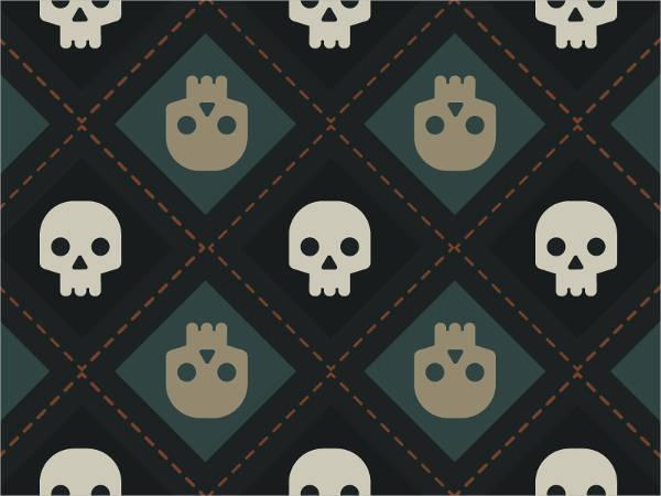 Tiling Skull Pattern