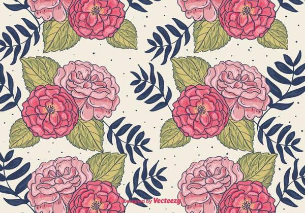 hand drawn flower patterns