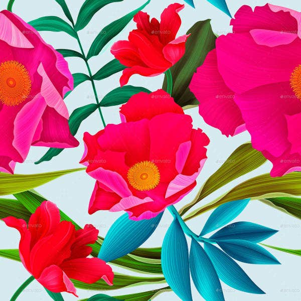 High Quality Seamless Flower Patterns