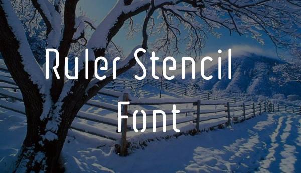 block-stencil-font