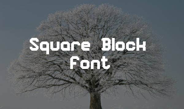 square-block-font