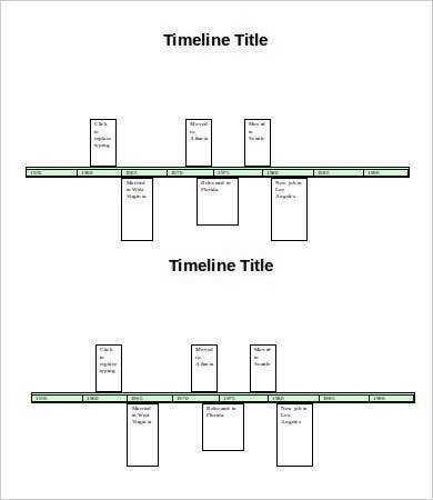Timeline Word Template   Free Word Documents Download  Free