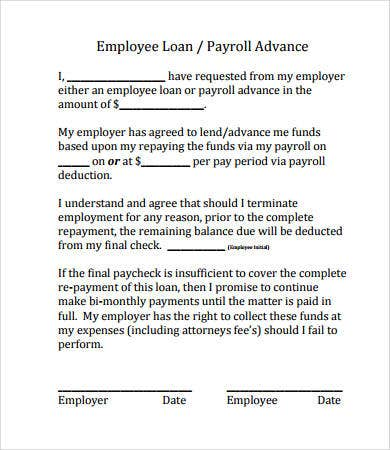 Simple loan agreement 10 free pdf word documents for Employee vehicle use agreement template