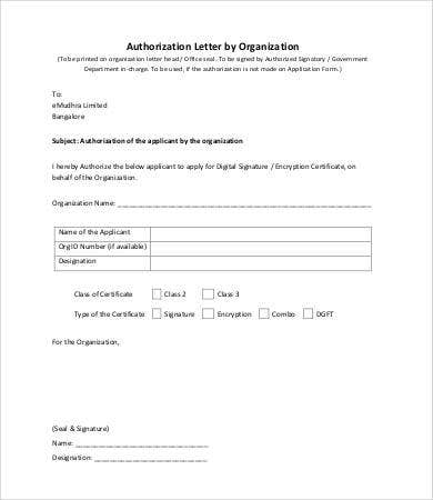 Letter Of Authorization - 7+ Free Word, Pdf Documents Download