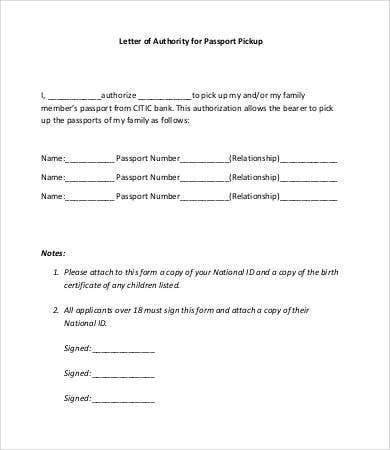 Letter Of Authorization   Free Word Pdf Documents Download