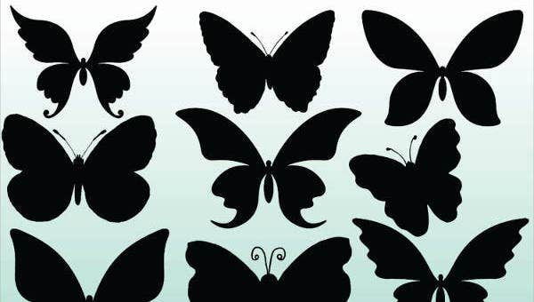 butterfly silhouetes