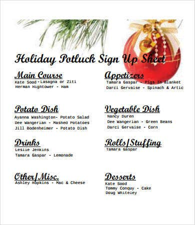 holiday-potluck-signup-sheet