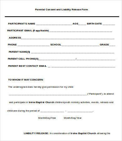 Release Of Liability Form   Free Word Pdf Documents Download