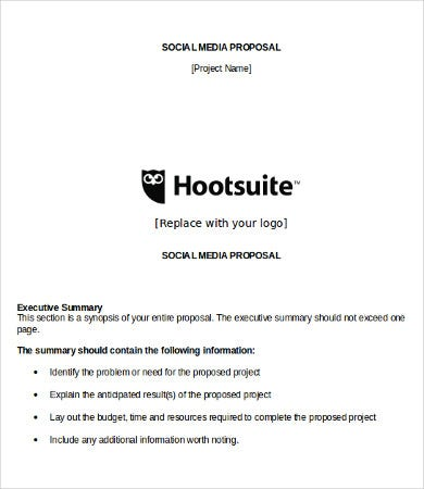 social media proposal template download